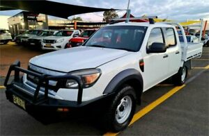 2009 Ford Ranger PK XL Crew Cab White 5 Speed Manual Cab Chassis