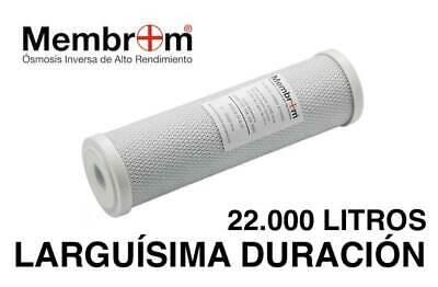 "Filtro Declorador Agua Carbon Activo 22 M3 Cartucho Recambio 10"" osmosis inversa"