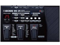 Boss ME 25 Guitar multi effects pedal - practically brand new and boxed £90