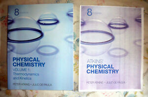 Physical Chemistry textbook (8e) by Atkins and De Paula