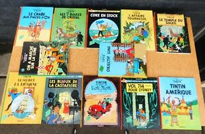 12 bandes dessinées de Tintin  12 comic books