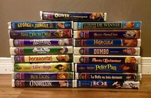 Lot of French Disney VHS Tapes