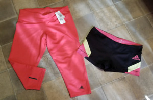 Adidas brand new capris and shorts