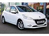 2015 PEUGEOT 208 1.2 e VTi Active EGC Auto GBP0 TAX, B TOOTH, DAB and ALLOYS