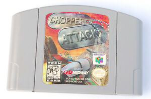 CHOPPER ATTACK N64 VIDEO GAME - CLEAN AND TESTED