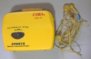 Vintage Cora Sports Stereo Cassette Player with Headphones