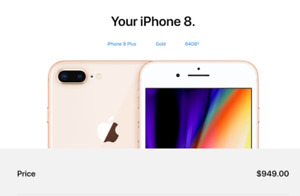 Regina! Christmas Gift! *Brand New iPhone 8 Plus 64Gb Unlocked *