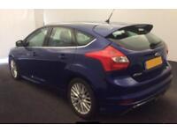 2014 BLUE FORD FOCUS 1.6 TDCI 115 ZETEC S DIESEL 5DR HATCH CAR FINANCE FR £25 PW