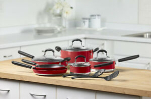 12-Pc. Nonstick Aluminum Cookware Set, New