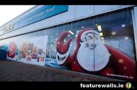 CHRISTMAS WINDOW PAINTING, SIGN PAINTING, SEASONAL