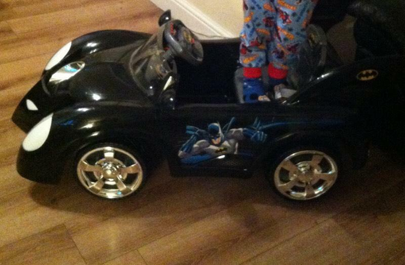 Batman Electric Ride On With Charger Batmobile Car In