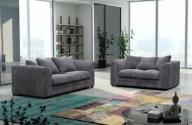 🔥🔥Same Day Cash On Delivery🔥🔥 Brand New Dylan Byron Jumbo Cord Corner or 3+2 sofa Fabric+Leather