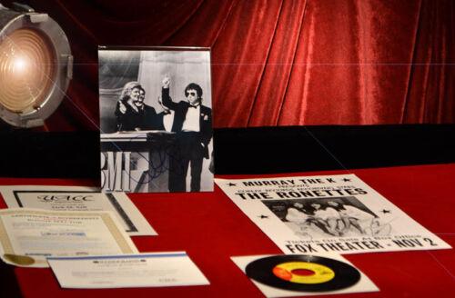 RARE Signed PHIL SPECTOR & RONNIE SPECTOR AUTOGRAPH, COA, UACC, 45 Record