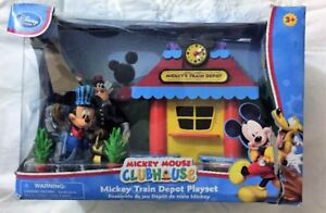 NEW MICKEY MOUSE CLUBHOUSE TRAIN DEPOT PLAYSET