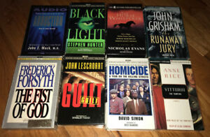 Lot of 8 Audio Books on Cassette $5 each or all for $20