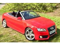 Audi A5 2.0 TURBO (211)**S LINE Convertible*Just 1Former Owner,B&O Hifi,Xenons*