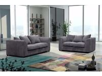 40% OFF ** 5 NEW COLOURS ** GREY BRAND NEW DYLAN JUMBO CORD CORNER OR 3 AND 2 SOFA **QUICK DELIVERY