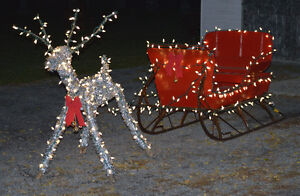 one of a kind sliegh and reindeer Belleville Belleville Area image 1