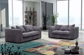BRAND NEW JUMBO CORD DYLAN CORNER OR 3 AND 2 SEATER SOFA IN BLACK, GREY, MINK AND BROWN COLOURS