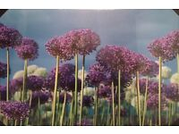 Stunning purple flower high quality canvas - glows in the dark