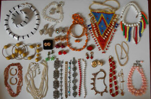 VINTAGE Costume Jewellery  Earrings Sets Necklaces