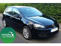 £174.14 PER MONTH BLACK 2011 VOLKSWAGEN GOLF 2.0 MATCH BMT S/S DIESEL MANUAL