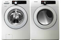 Samsung Large Capacity Front Load Washer and Dryer Stackable