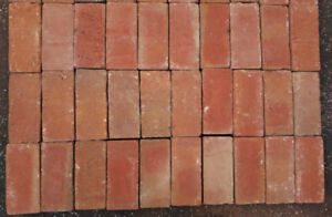100 new red paver bricks for walkways, BBQs, patios, garden edge