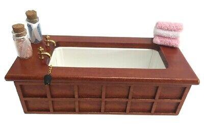 Bañera para casa de muñecas 1:12 muebles accesorios