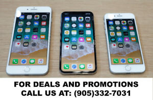 Special Deals on iPhone X, 8, 7, 6S, 6, 5S & SE in October!
