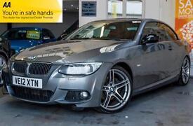 2012 BMW 3 SERIES 2.0 320D M SPORT PLUS 2DR FINANCE FROM £0 DEPOSIT! CONVERTIBL