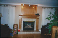 OAK PANEL TRIM & CROWN FROM ABOVE FIREPLACE $35-,PINE $25-.