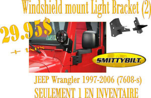 SPÉCIAL-Smittybilt Windshield Light Mount  Wrangler 97-06 (7608)
