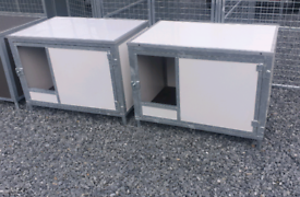 Steel insulated dog kennels chew proof double skinned