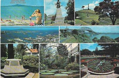 auckland New Zealand city country volcano views collectible Picture Postcard