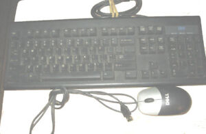 Clavier IBM Keyboard / Souris Dell Mouse