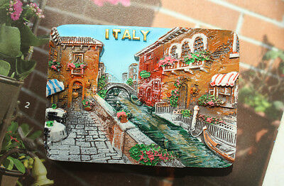 Burano Island In Italy  Travel Souvenir 3D Resin Fridge Magnet Craft Gift Idea