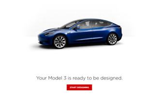 Tesla Model 3 Reservation - AWD