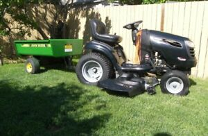 Craftsman DGS 6500 Riding Lawn Tractor With Trailer