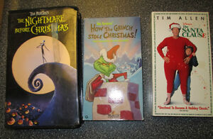 3 Christmas VCR tapes