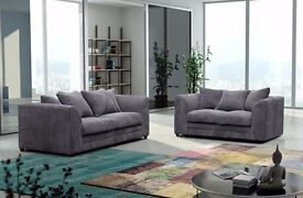DISCOUNTED OFFER!NEW DYLAN JUMBO CORD CORNER SOFA OR 3 AND 2 SEATER SOFA SET -- VERY CHEAP PRICE