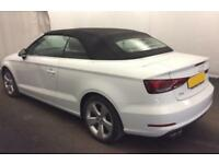 2015 WHITE AUDI A3 CABRIOLET 2.0 TDI 150 SPORT DIESEL CAR FINANCE FROM 62 P/WK