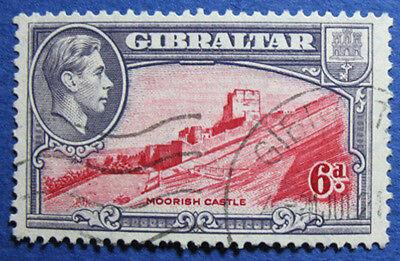 1945 GIBRALTAR 6d SCOTT# 113 S.G.# 126c USED  CS02028