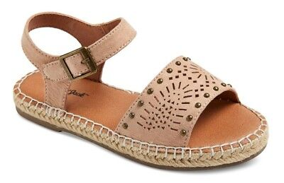 Cat   Jack Youth Big Girls Tan Studded Beverly Espadrille Sandals   Nwt