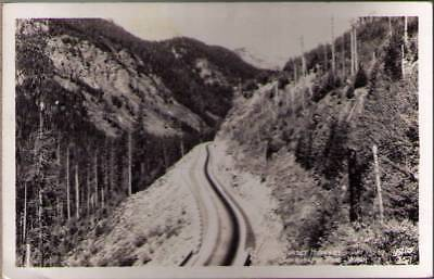 Ykl  Real Photo Postcard Sunset Highway  Snoqualmie Pass Wa