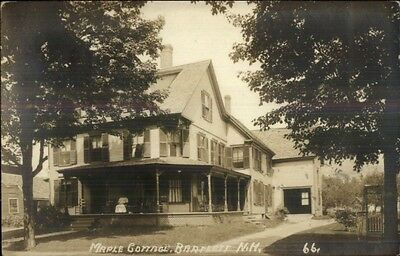 Bartlett NH Maple Cottage c1910 Real Photo Postcard