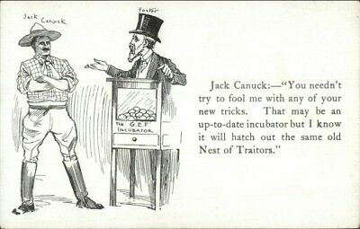 Canada Political Propaganda Jack Canuck & Foster Party SCARCE Postcard jrf