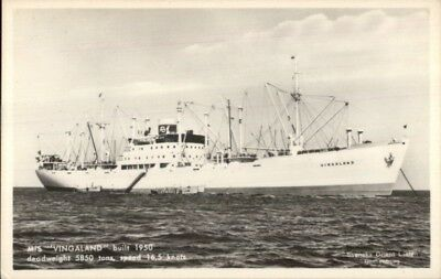 Swedish Steamship M S Vingaland Svenska Orient Line Real Photo Postcard