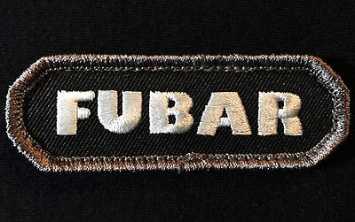 Fubar Tactical Infidel Army Morale Swat Velcro  Brand Fastener Patch