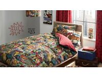 Superheros NEXT range - Entire set - Bedding, Lampshade, Rug, Linen, Wall art + Lamp